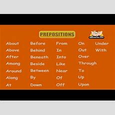 English Grammar  Learn Prepositions Youtube