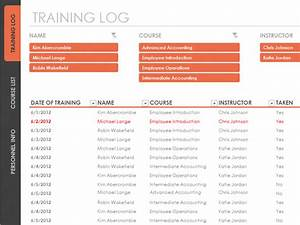 employee training tracker templates officecom With training record template in excel