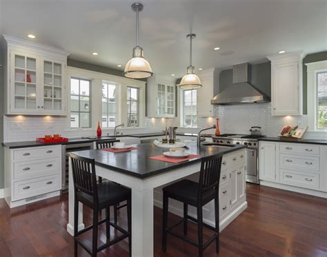 white kitchen with black island 79 custom kitchen island ideas beautiful designs