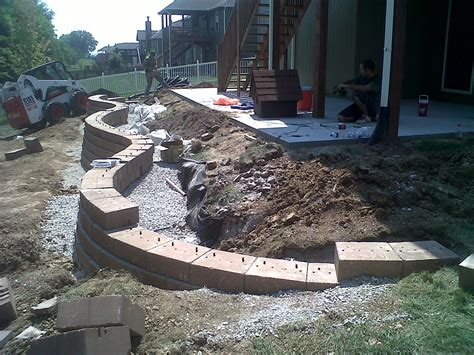 retaining wall backfill material retaining wall referral winkler s lawn care landscape