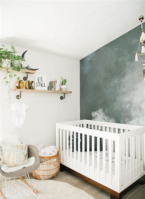 Kinderzimmer Junge Modern by Modern Smoke Mural Nursery For A Baby Boy Nursery Kid