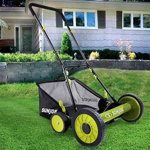 Sun Joe Mj501m Green 18 U0026quot  Manual Reel Mower W Grass Catcher