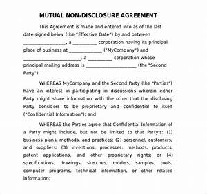 19 word non disclosure agreement templates free download for Nda template word document
