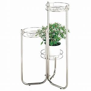 Sellette Pour Plante : sellette porte plantes 3 niveaux acier chrom hauteur ~ Premium-room.com Idées de Décoration