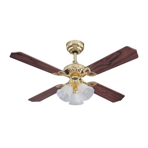 westinghouse princess trio polished brass ceiling fan with