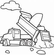 printable dump trucks coloring page coloringpagebook
