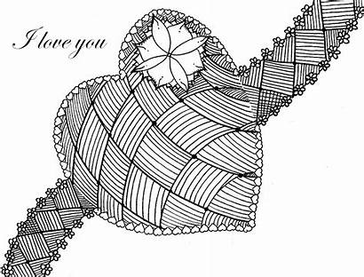 Coloring Heart Pages Adults Valentine Sheets Valentines
