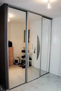 Porte Coulissante Miroir Sur Mesure : miroir a coller sur porte de placard pas cher ~ Premium-room.com Idées de Décoration