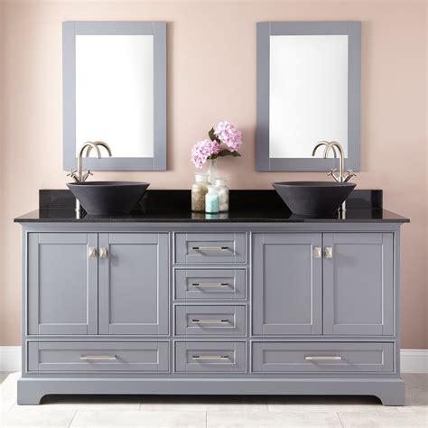 double vessel sink vanity 72 quot quen double vessel sink vanity gray double sink
