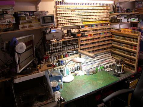 pauls scale models  modelling workspace atelier de