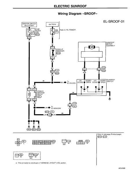 2003 nissan altima sunroof wiring diagram altima