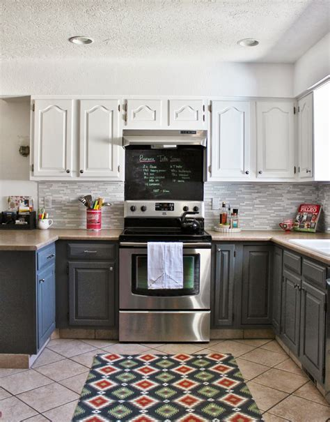 remodelaholic grey  white kitchen makeover