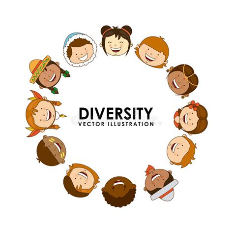 diversity of races stock vector illustration of boys 43442647