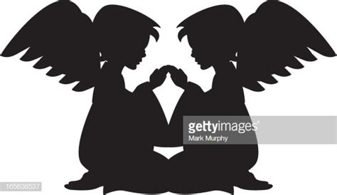 praying angels silhouette vector art getty images