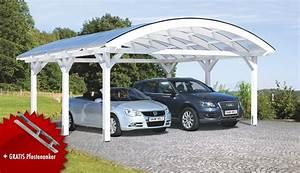 Carport Dach Holz : holz carport bausatz skanholz franken durchsichtiges tonnendach doppelcarport vom garten ~ Sanjose-hotels-ca.com Haus und Dekorationen