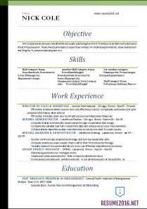 word resume templates 2016 standard resume format 2016 jennywashere com