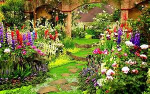 Widescreen Beautiful Nature Flowers Garden With Hd Of ...