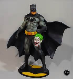 Batman and Joker Head Drawings