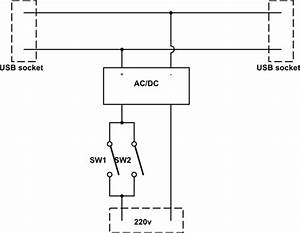 Dpst Switch Control 5vdc And 220vac