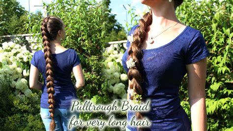pullthrough braid   long hair eng subs  youtube