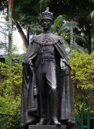 artatsite statue  king george vi zoological  botanical gardens hong kong