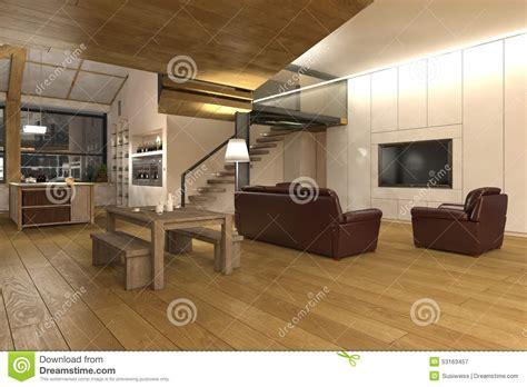 plan cuisine ouverte salle manger grand salon d 39 ouvert plan cuisine illustration stock
