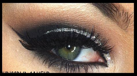 glitter cut crease makeup youtube