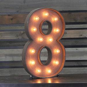 "Edison Marquee Number- ""8"" Town & Country Event Rentals"