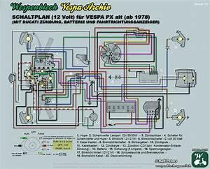Schaltplan Vespa Px Alt 12 Volt Batterie