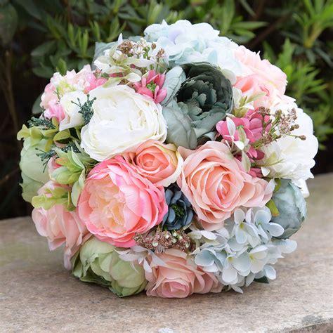 buy  faux bouquet silk roses wedding