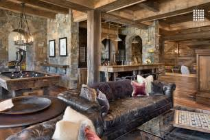 wohnzimmer rustikal modern rustic room with columns by locati architects zillow digs