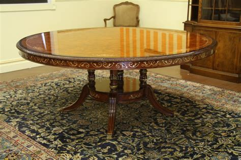 72 inch round dining table luxurious 72 inch round walnut and pearl inlaid dining table