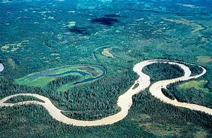 The gallery for --> Meandering River With An Oxbow Lake