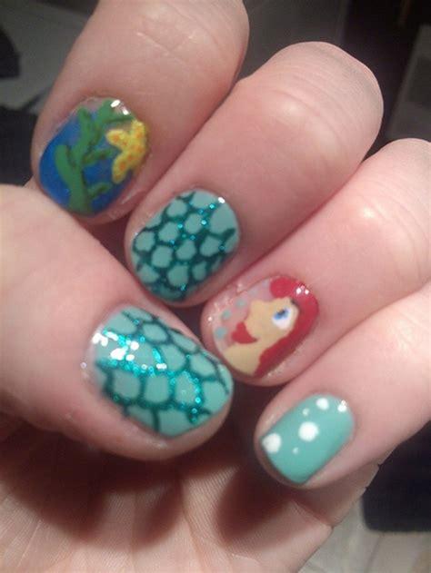 classic mermaid nail art ideas