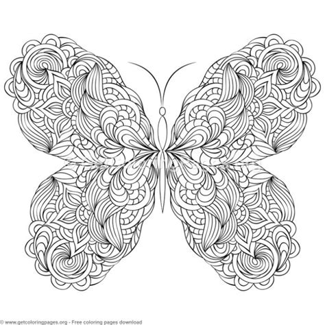 zentangle patterns butterfly coloring pages