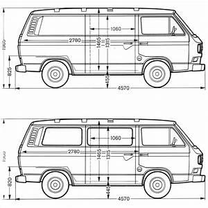 Volkswagen Transporter T3 1979 Blueprint - Download free