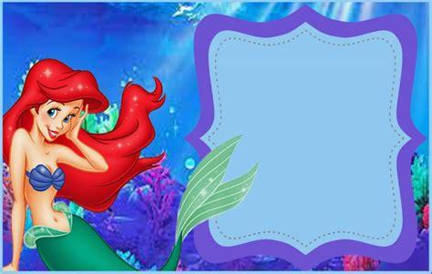 free mermaid invitation templates mermaid free printable invitation templates