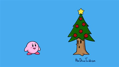 Merry christmas and happy new year background, christmas gold glitter decoration ball and reindeer on the tropical beach near ocean, a summer christmas and winter holyday concept, selective focus. And That's How Kirby Became A Christmas Tree | Kotaku Australia