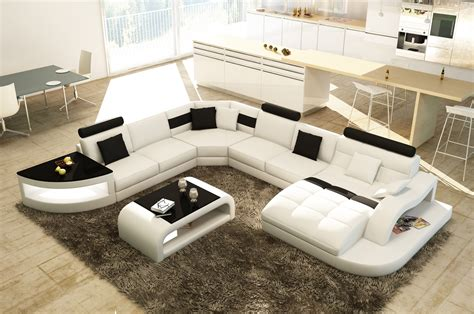 canapé panoramique design deco in canape d angle design panoramique blanc et