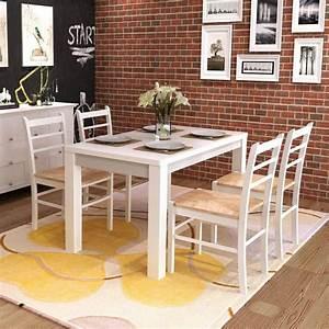 Chaise De Salle A Manger Blanche : la boutique en ligne 4 pcs chaise de salle manger peinture blanche ~ Voncanada.com Idées de Décoration