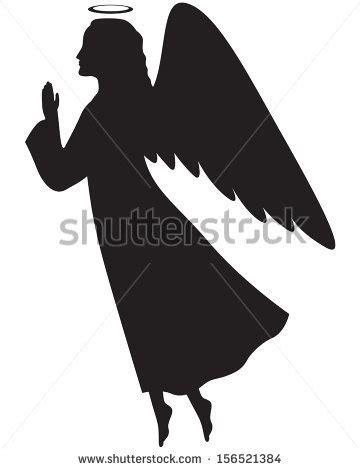 angel silhouette pattern  patterns