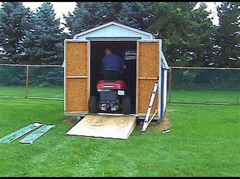 build  shed ramp  uneven ground