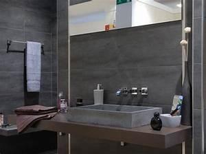 Deco Salle De Bain Gris : deco salle de bains gris et blanc ~ Farleysfitness.com Idées de Décoration