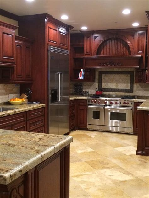 kitchen floor ideas with cabinets 1000 images about cherry floors on cherries