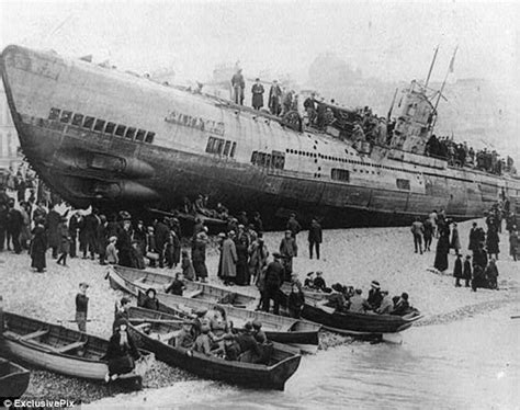 German U Boats Technology by Haunting Pictures Show U Boat Washed Onto After Wwi