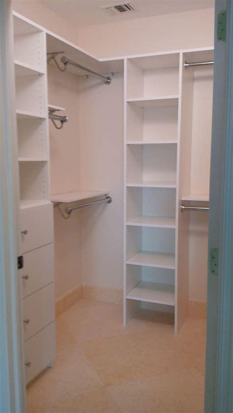 custom melamine closet system combined   shelf