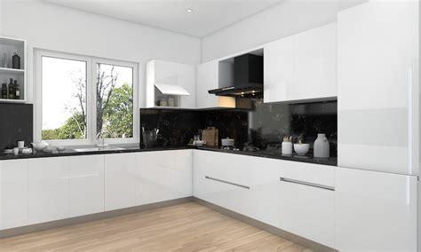 cuisine blanche plan de travail bois awesome cuisine noir plan de travail bois blanc images