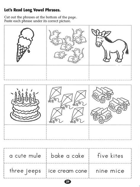 let s read vowel phrases worksheet rockin