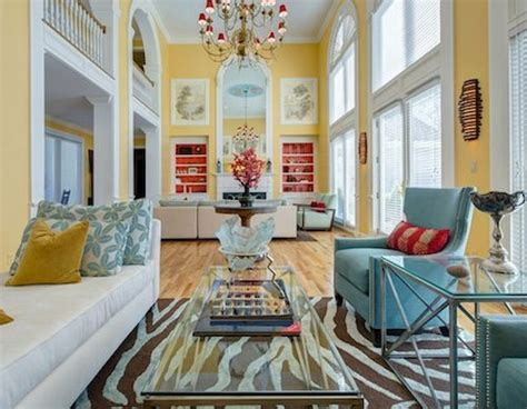 decorating with turquoise colors of nature aqua exoticness animal print rug red sofa decor