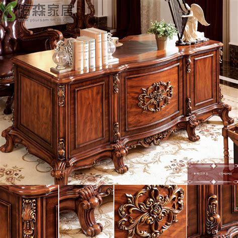 continental desk study furniture carved wood desks